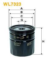 Фильтр масляный FORD MONDEO III WL7323/OP532/2 (Производство WIX-Filtron) WL7323