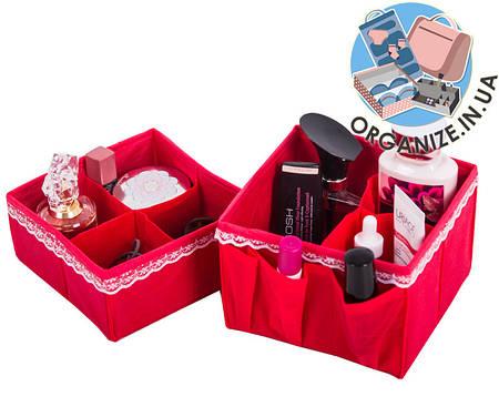 Набор органайзеров для косметики ORGANIZE 2 шт (кармен)