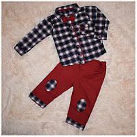 Нарядный костюм с бабочкой для мальчика ТМ Necixs (рубашка, джинсы) размер 68 74