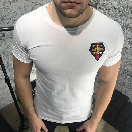 T-Shirt Gucci with Bee White, фото 2