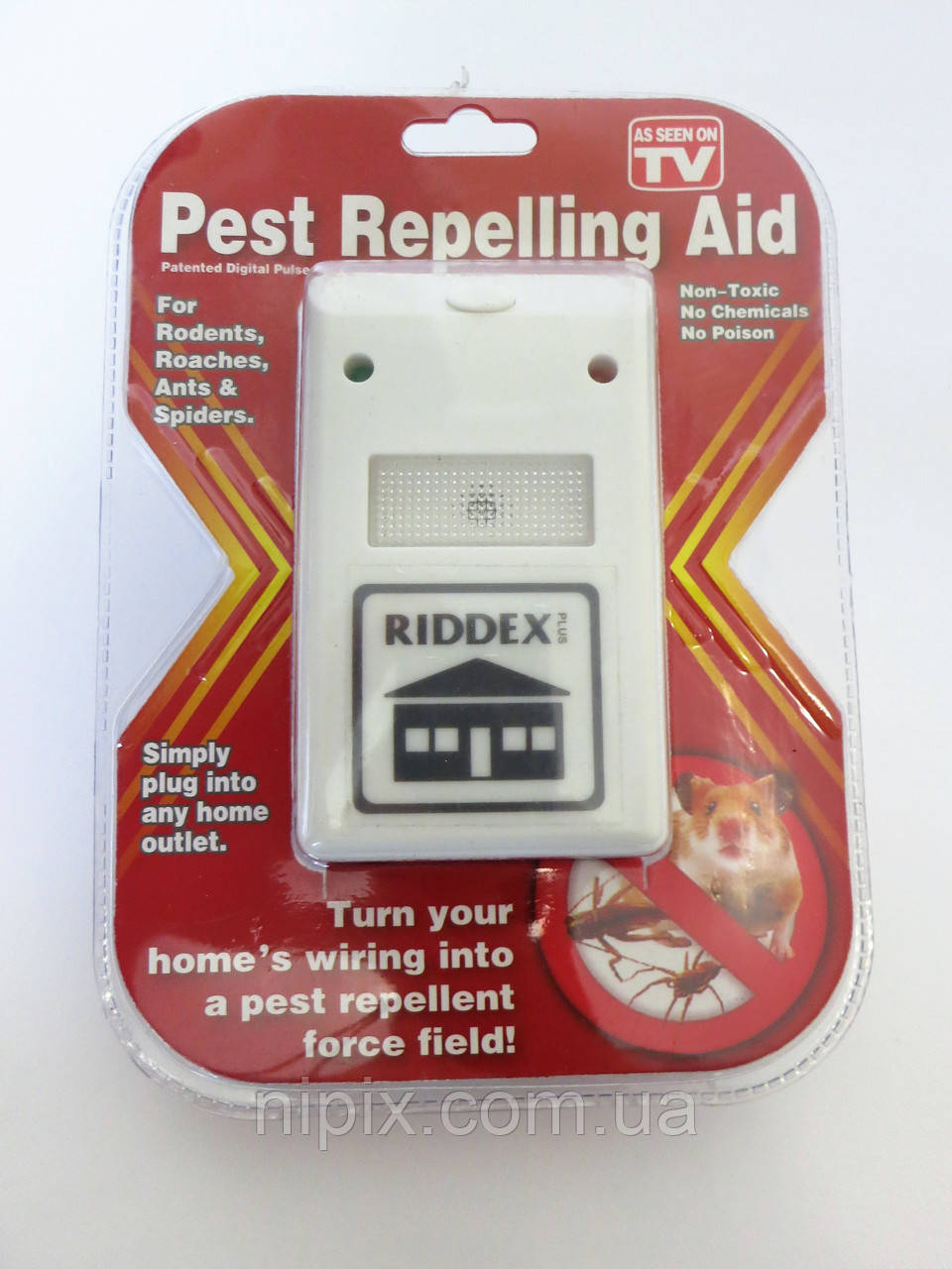 Электромагнитный отпугиватель грызунов и насекомых Ридекс (Riddex Plus Pest Repeller)