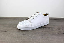 Christian Louboutin Louis Junior Spikes Men's Flat White, фото 2