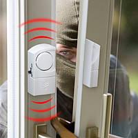 Мини-сигнализация на окна/двери магнитная автономная (без проводов)-4шт/комплект, фото 1