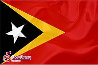 Флажок Восточного Тимора 13,5*25 см., плотный атлас