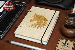 Блокнот с деревянной обложкой А6
