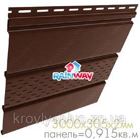 Соффит Rainway/Рейнвей коричневый перфорированный