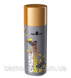 Эмаль NEW TON декоративная в аэрозольной упаковке золото