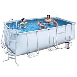 Каркасный бассейн Bestway 56241(56456). Сборный 412х201х122 см Бас