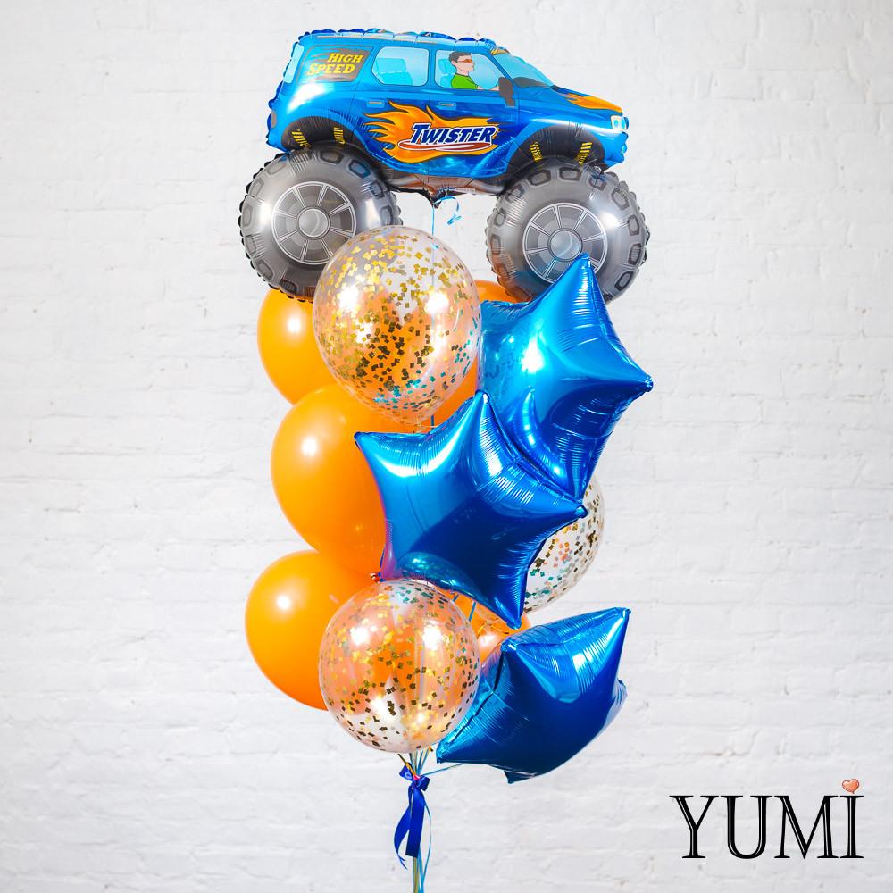 Связка из воздушных шариков для мальчика