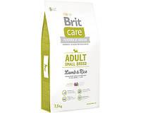 Корм Brit Care Брит Кеа Adult Small Breed Lamb Rice для взрослых собак мелких пород ягненок с рисом, 3 кг.