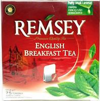 Чай черный в пакетиках Remsey Earl Английский завтрак (75 шт.), 131,25 гр Польша