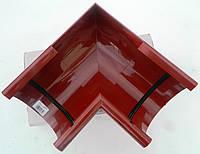Водосточная система. Угол для желоба внутренний Bryza 125 мм  (Красный цвет)