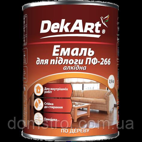 """Эмаль алкидная для пола красно-коричневая 0,9 кг ТМ""""DekArt"""", фото 2"""