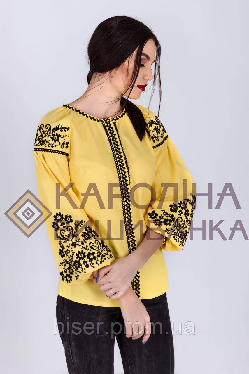 Заготовка жіночої блузки ( Жовта бохо)БЖд-001 - Интернет-магазин «Роксолана 0cc3af355bc95