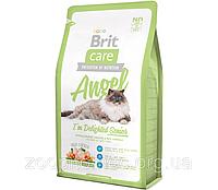 Корм Brit Care Брит Кеа Cat Angel I am Delighted Senior для пожилых кошек курица с рисом, 2 кг