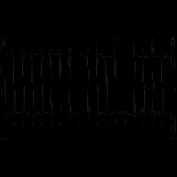 Забор сварной из металлического прута   Ограждение участка металлическое с элементами ковки и установкой