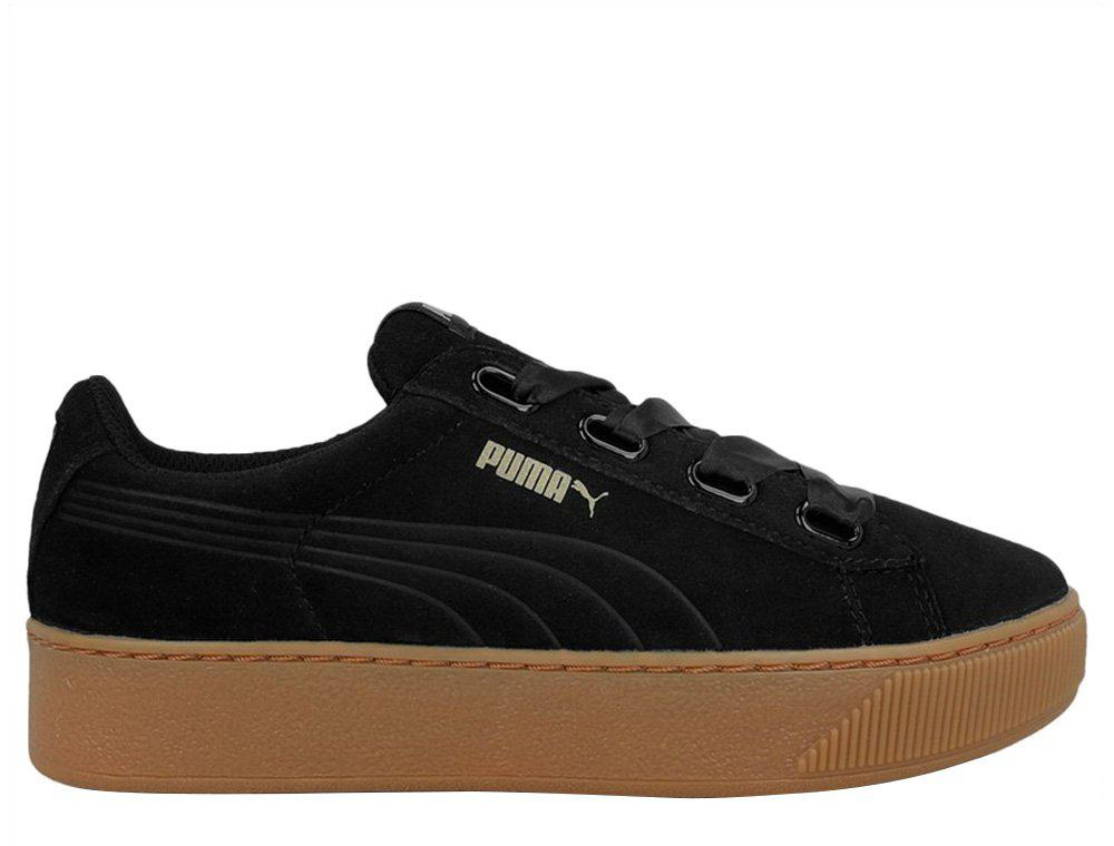 85bc1f47f0b8 Оригинальные женские кроссовки Puma Vikky Platform Ribbon Bold Black -  All-Original Только оригинальные товары