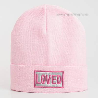 Шапка Люба бледно-розового цвета