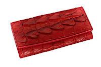 Кошелек из кожи крокодила Красный (cw15)