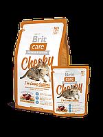 Корм Brit Care Брит Кеа Cat Cheeky I am Living Outdoor для кошек живущих на улице оленина с рисом, 2 кг