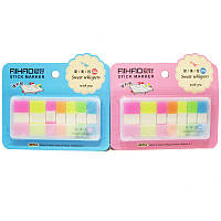 Стикеры-закладки Aihao Neon 44x12мм 5шт по 20л., 44*20мм 2шт по 20л. 66714
