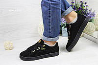 Кроссовки Puma Suede (черные) замшевые кроссовки пума Puma