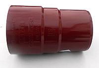 Водосточные системы Муфта трубы водостока Bryza 90 мм  (Красный цвет)