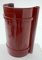 Водосточная система. Соединитель для желоба Bryza 125 мм  (Красный цвет)