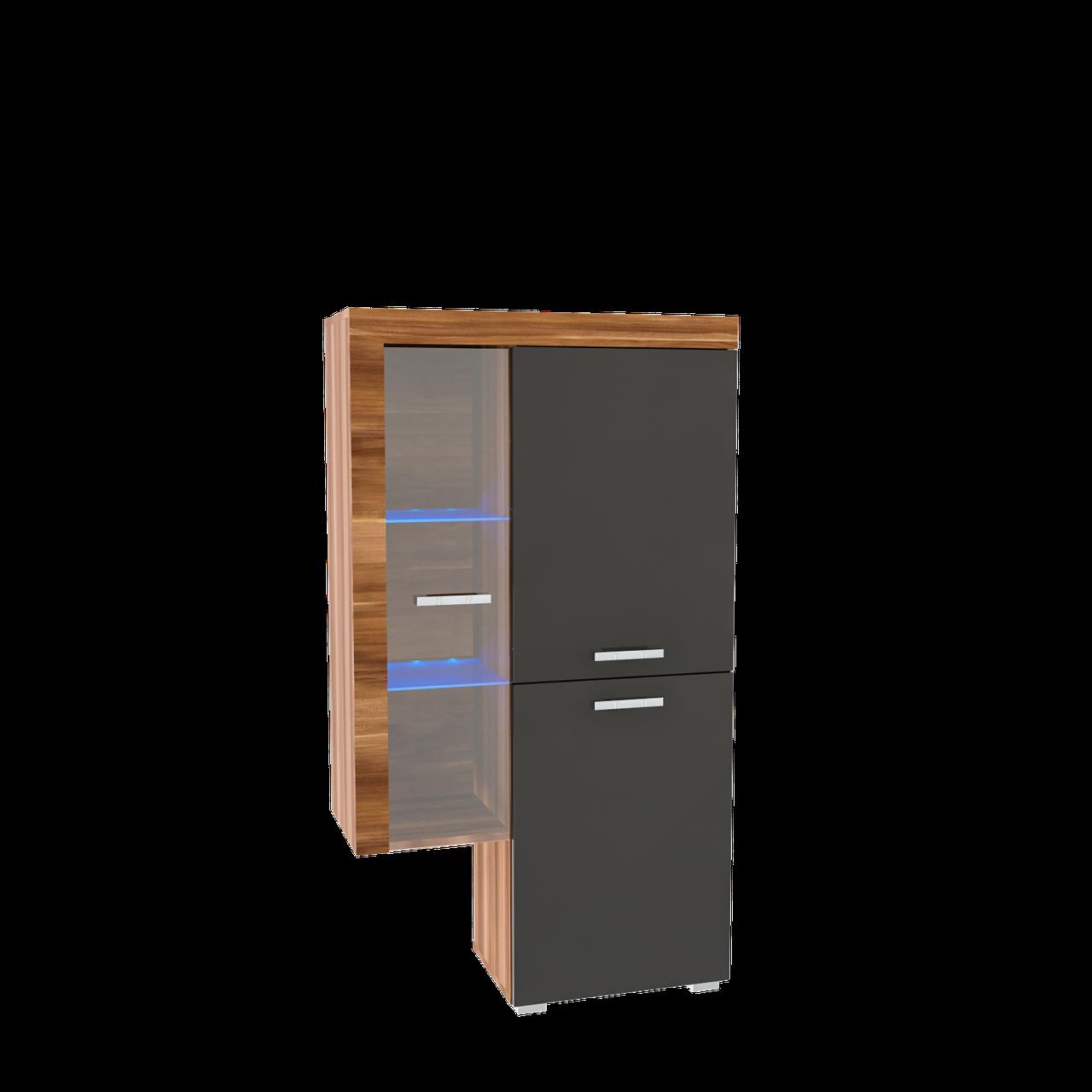 Система Вітрина сервант у вітальню з ДСП/МДФ РТВ права Sakura M Blonski