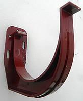 Водосточные системы  Держатель желоба для водостока Bryza 125 мм (Красный цвет)