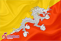 Флажок Бутана 13,5*25 см., плотный атлас