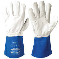 Перчатки для сварки cynep TIG 106.3700 синяя крага