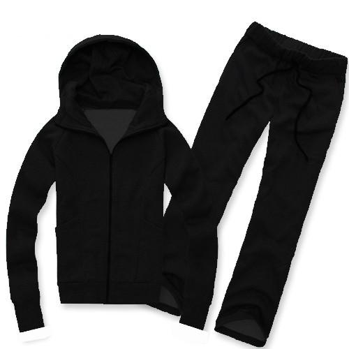 Чоловічий утеплений спортивний костюм Блек