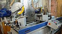 Toskar Woodmaster 300 бу двухголовочный усозарезной станок для резки профилей и сверления под шканты 13г., фото 1