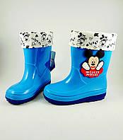 Резиновые сапоги для мальчиков, голубые  Disney