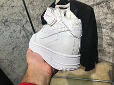 Nike Air Force 1 Mid White AAA, фото 3