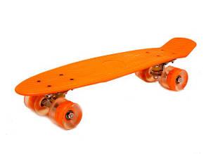 Скейт со светящимися PU-колесами