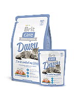 Корм Brit Care Брит Кеа Cat Daisy I've to control my Weight для кошек с избыточным весом индейка с рисом, 2 кг