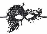 Карнавальная кружевная маска, модель 3