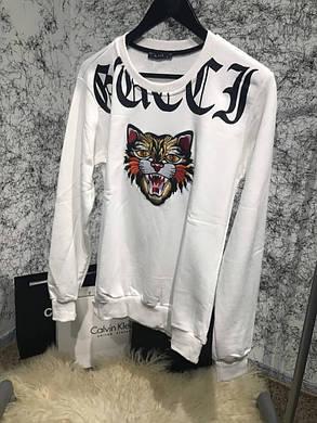 Sweatshirt Gucci Angry Cat White , фото 2