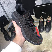 Yeezy Boost 350 SPLY V2 with Gucci Black, фото 3