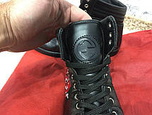 Gucci High Top Snake Embroidered Sneaker Black, фото 3