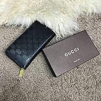Gucci Wallet Signature Black Zip Around, фото 2