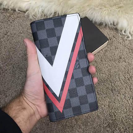 Louis Vuitton Brazza Wallet Damier Cobalt LV Cup Red, фото 2