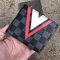 Louis Vuitton Slender Wallet Damier Cobalt LV Cup Red, фото 2