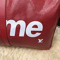 Softsided Luggage Louis Vuitton x Supreme Keepall Bandoulière 55 Epi Red, фото 3