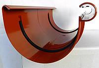 Водосточная система. Соединитель для желоба Bryza 125 мм  ( цвет Кирпичный )