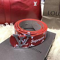 Belt Louis Vuitton x Supreme Printed Monogram Red, фото 2