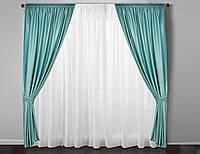 Бирюзовые шторы  на окна цена за комплект