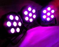 Led par 7x10 4in1 RGBW dmx512 световое оформлние, светомузыка